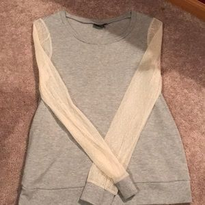 Urban outfitters mesh sleeve top